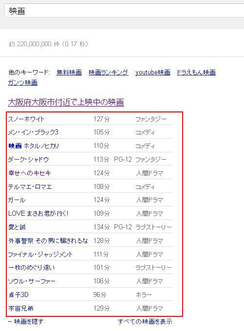 Google「映画」検索結果001