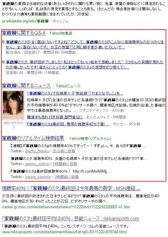Yahoo!で検索した場合